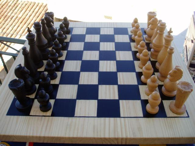 El ajedrez artesanal de Armando