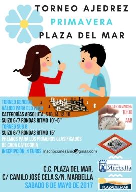 Cartel Torneo Primavera Plaza del Mar 2017