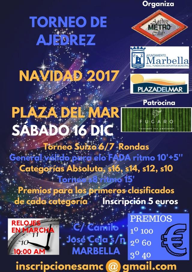 TORNEO DE AJEDREZ NAVIDAD 2017 PLAZA DEL MAR